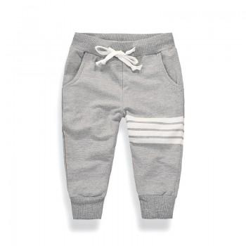 Casual Stripes Print Sporty Pants for Toddler and Kid
