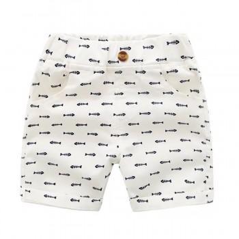 Trendy Fishbone Pattern Shorts for 2-7 Years Boy