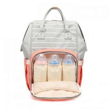 Color Block Portable Large Capacity Diaper Bag Backpack