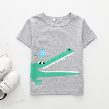 Cool Crocodile Print Short-sleeve Tee for Toddler Boy and Boy