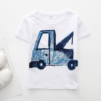 Trendy Truck Print Short-sleeve Tee for Baby Boy and Boy
