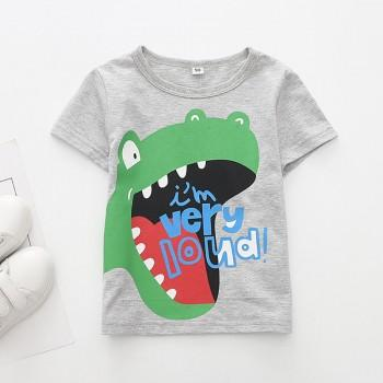 Fashionable Dino Print Short-sleeve Tee for Toddler Boy and Boy