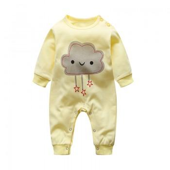 Stylish Cloud Print Long-sleeve Jumpsuit for Baby