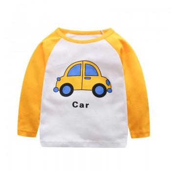 Comfy Car Print Color Blocked Long-sleeve Tee for Toddler Boy and Boy
