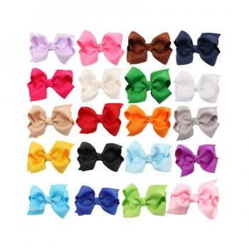 20-pack Pretty Bowknot Hairpin in Multitudes of Color