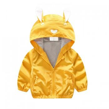 Lovely Rabbit Design Hooded Coat for Baby