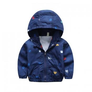 Comfy Car Print Hooded Jacket for Toddler Boy and Boy