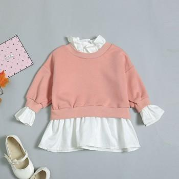 Faux-two Casual Long-sleeve Pullover for Baby