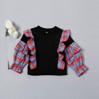 Casual Ruffled Long-sleeve Pullovers for Baby