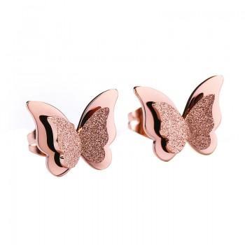 Pretty Butterfly Design Scrub Earrings