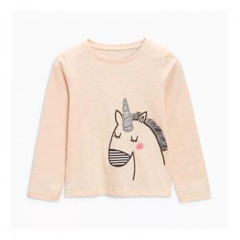 Beautiful Unicorn Print Long-sleeve Tee for Toddler Girl and Girl