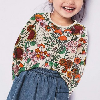 Pretty Floral Long-sleeve Tee for Toddler Girl and Girl