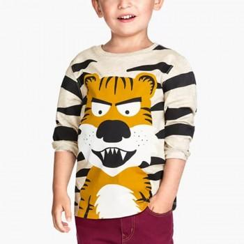 Cool Tiger Print Long-sleeve T-shirt for Toddler Boy and Boy