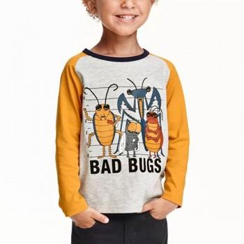 Trendy Bugs Print Long-sleeve Top for 3-7 Years Boy