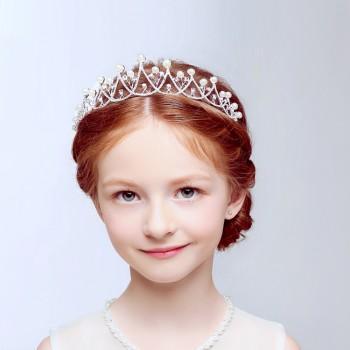 Beautiful Pearl and Rhinestone Crown for Girls