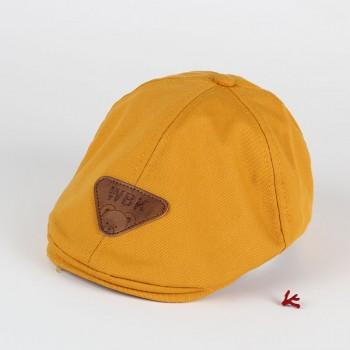 Trendy Solid Triangle Decor Newsboy Cap for Baby and Toddler