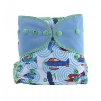 Baby's Reusable Washable Adjustable Plane Print Cloth Diaper