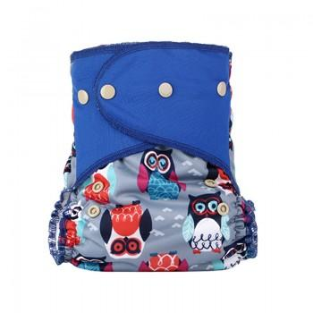 Baby's Reusable Washable Adjustable Fun Owl Print Cloth Diaper