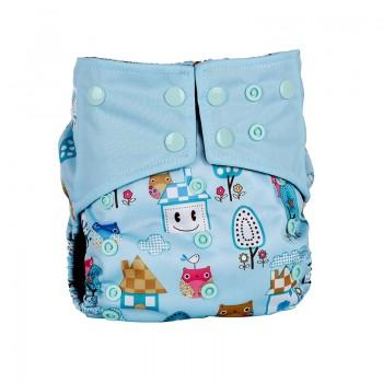 Baby's Reusable Washable Adjustable House Print Cloth Diaper