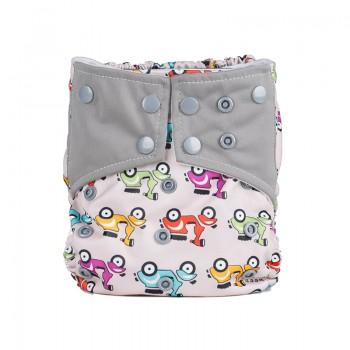 Baby's Reusable Washable Adjustable Motorcycle Print Cloth Diaper