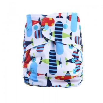 Baby's Reusable Washable Adjustable Allover Print Cloth Diaper
