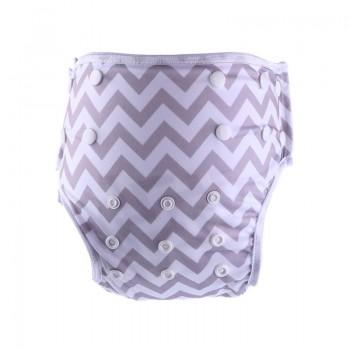 Baby's Reusable Washable Adjustable Wave Stripes Cloth Diaper