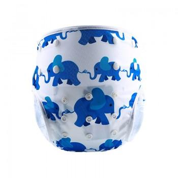Baby's Reusable Washable Adjustable Elephant Circle Print Cloth Diaper