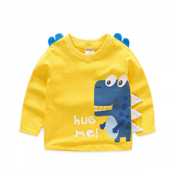 Lovely HUG ME Dino Long Sleeves Top for Boys