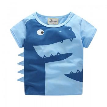 Cool Dinosaur Design Short Sleeves Tee for Boys