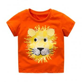 Toddler's Funny Lion Print Short-sleeve Tee