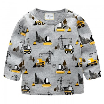 Trendy Digger Patterned Long-sleeve Tee for Baby Boy and Boy