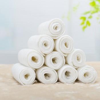 10 Pcs Washable Reusable Absorbent Cotton Cloth Diapers