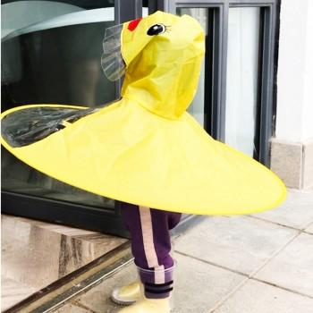 Cute Duck Design Hooded Raincoat for 2-5 Years Kid
