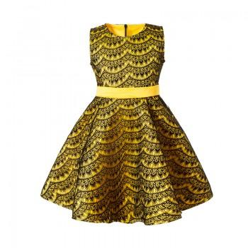 Elegant Lace Sleeveless Bowknot Sleeveless Dress for Girls