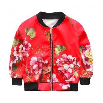 Vibrant Floral Pattern Jacket for Girl