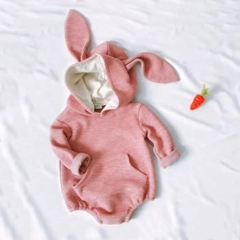 Adorable Rabbit Design Long-sleeve Romper for Baby
