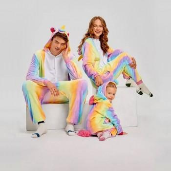 adorable unicorn design hooded family onesie pajamas