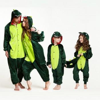 Trendy Dinosaur Design Long-sleeve Family Onesie Pajama