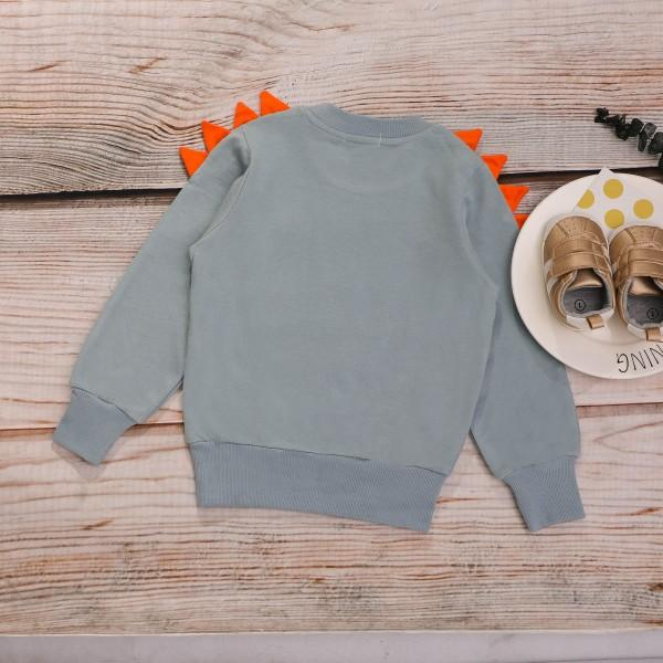 Lovely Dino Print Long-sleeve Pullover for Little Boys