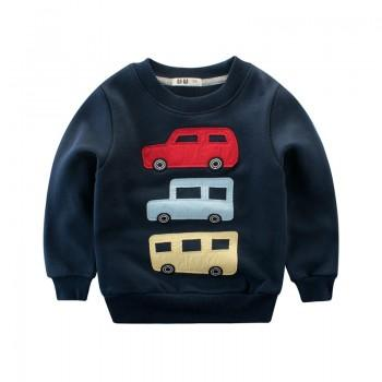 Trendy Car Applique Long-sleeve Sweatshirt for Baby Boy and Boy