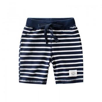 Trendy Striped Applique Decor Shorts for Boy