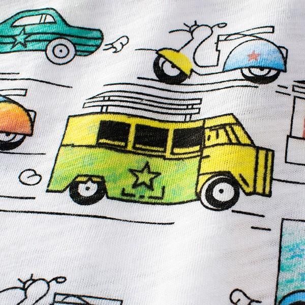 Trendy Car Print Short-sleeve Tee for Boy