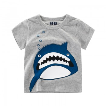 Funny Shark Print Short-sleeve Tee for Toddler Boy and Boy