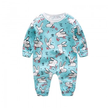 Stylish Cartoon Print Long-sleeve Jumpsuit for Baby