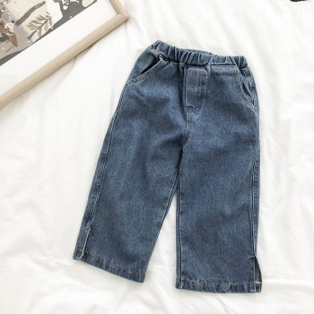 Sassy Split Solid Jeans for Toddler and Kid