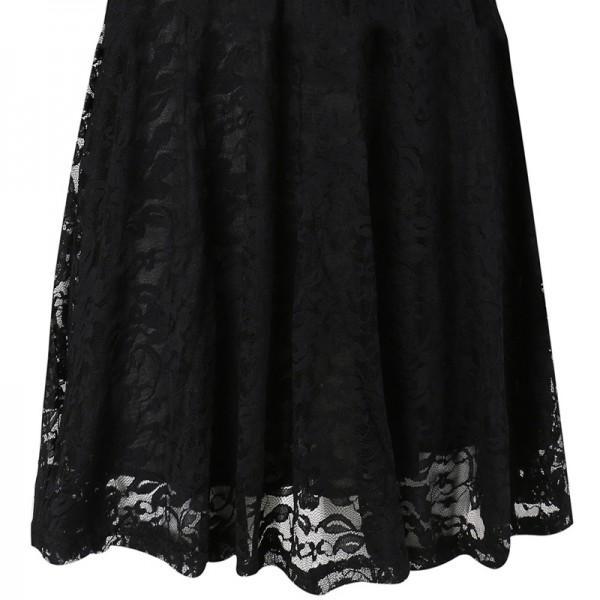 Graceful Lace Short-sleeve Dress