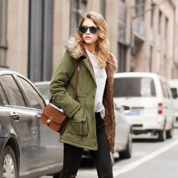 Winter Warm Zip-up Hooded Quilted Coat