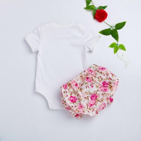 3 piece pretty applique bodysuit flower pattern shorts with hairband 3 piece pretty applique bodysuit flower pattern shorts with hairband for baby girls mightylinksfo
