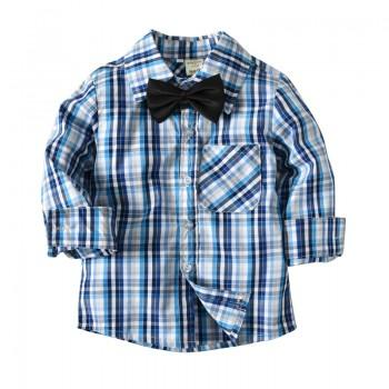 Casual Striped Long-sleeve Shirt for Baby and Kid