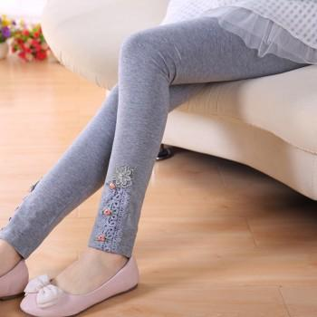 Pretty Embroidered Decor Leggings for Toddler and Kid